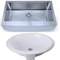 Hardware Resources - Stainless Steel & Porcelain Sinks